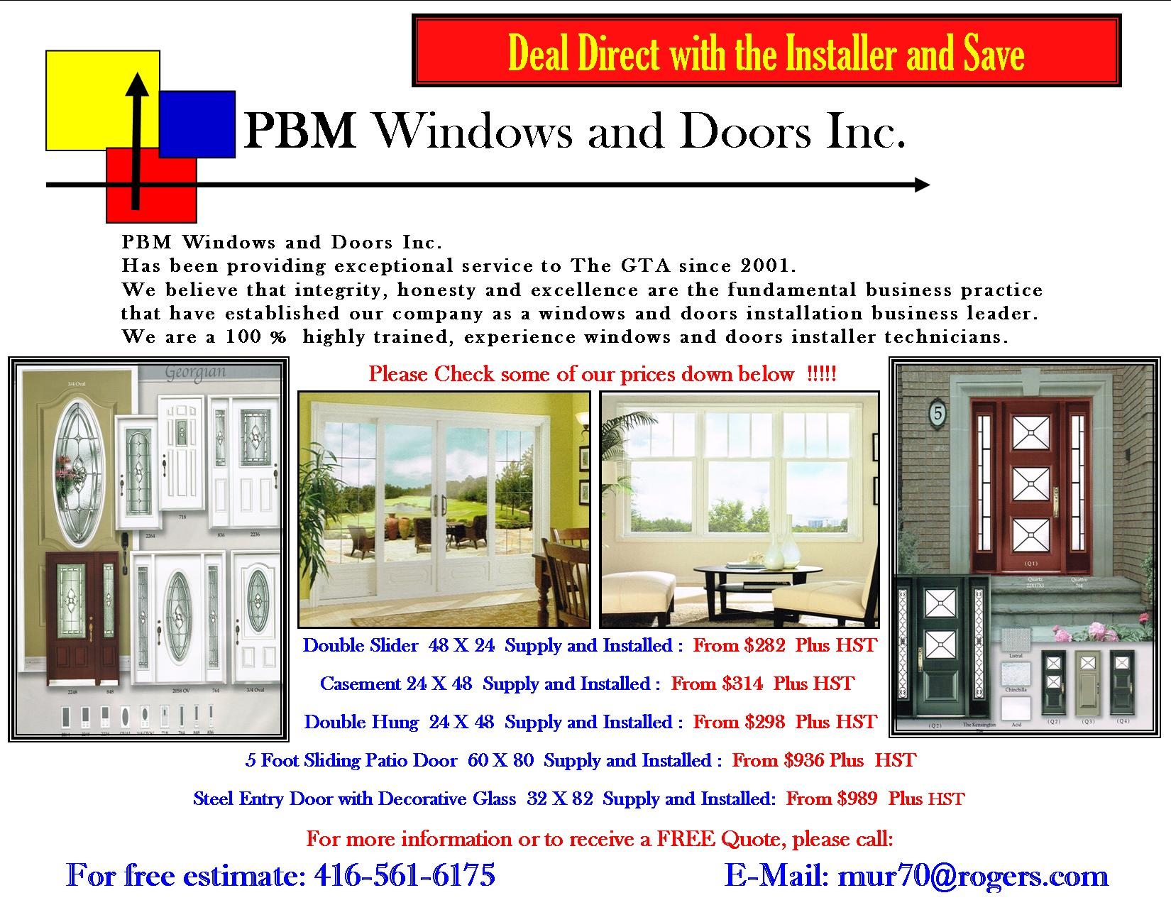 Deal DIRECT With The Installer And SAVE - Pbm Flyer 5