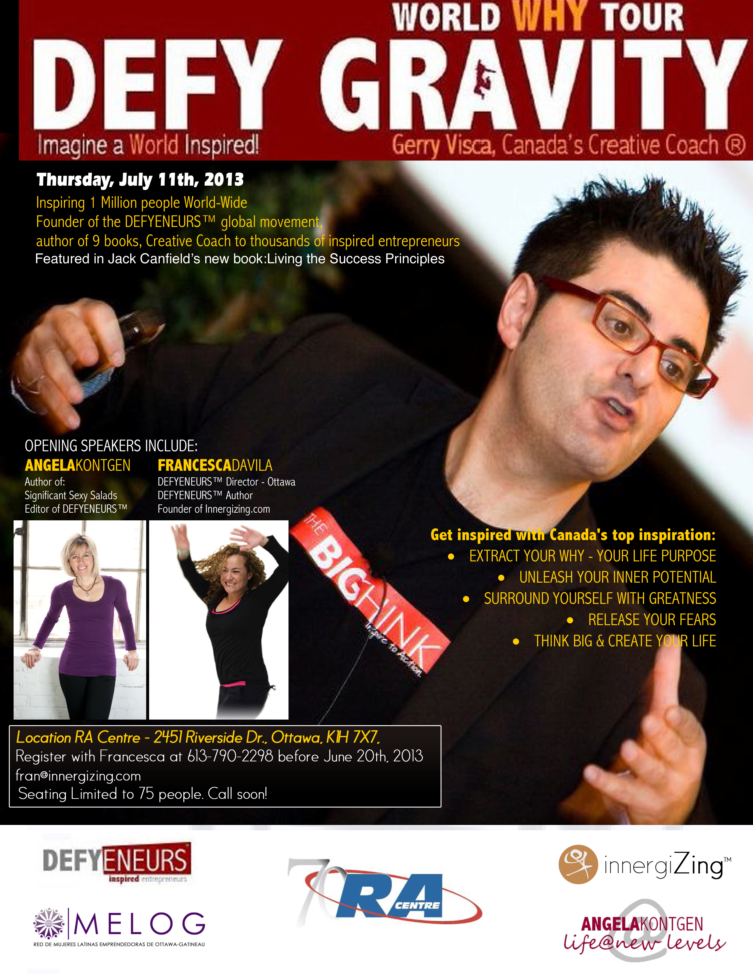 Create Your Life With Canada's Creative Coach Gerry Visca - Defyeneurs Gerryvisca July11th 1 1