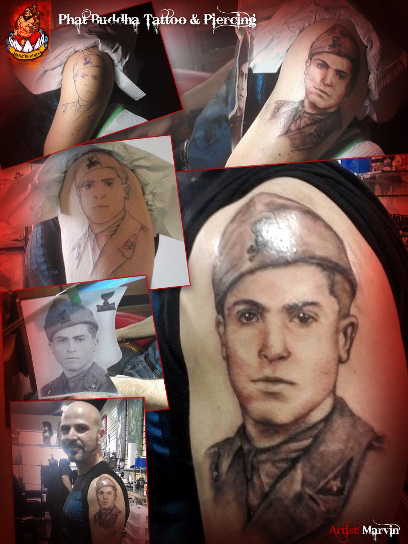 Quality Tattoo Portraits - David Dad
