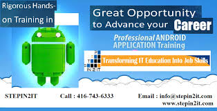 Advanced Android Apps Training In Toronto, Brampton, Mississauga - Andriod
