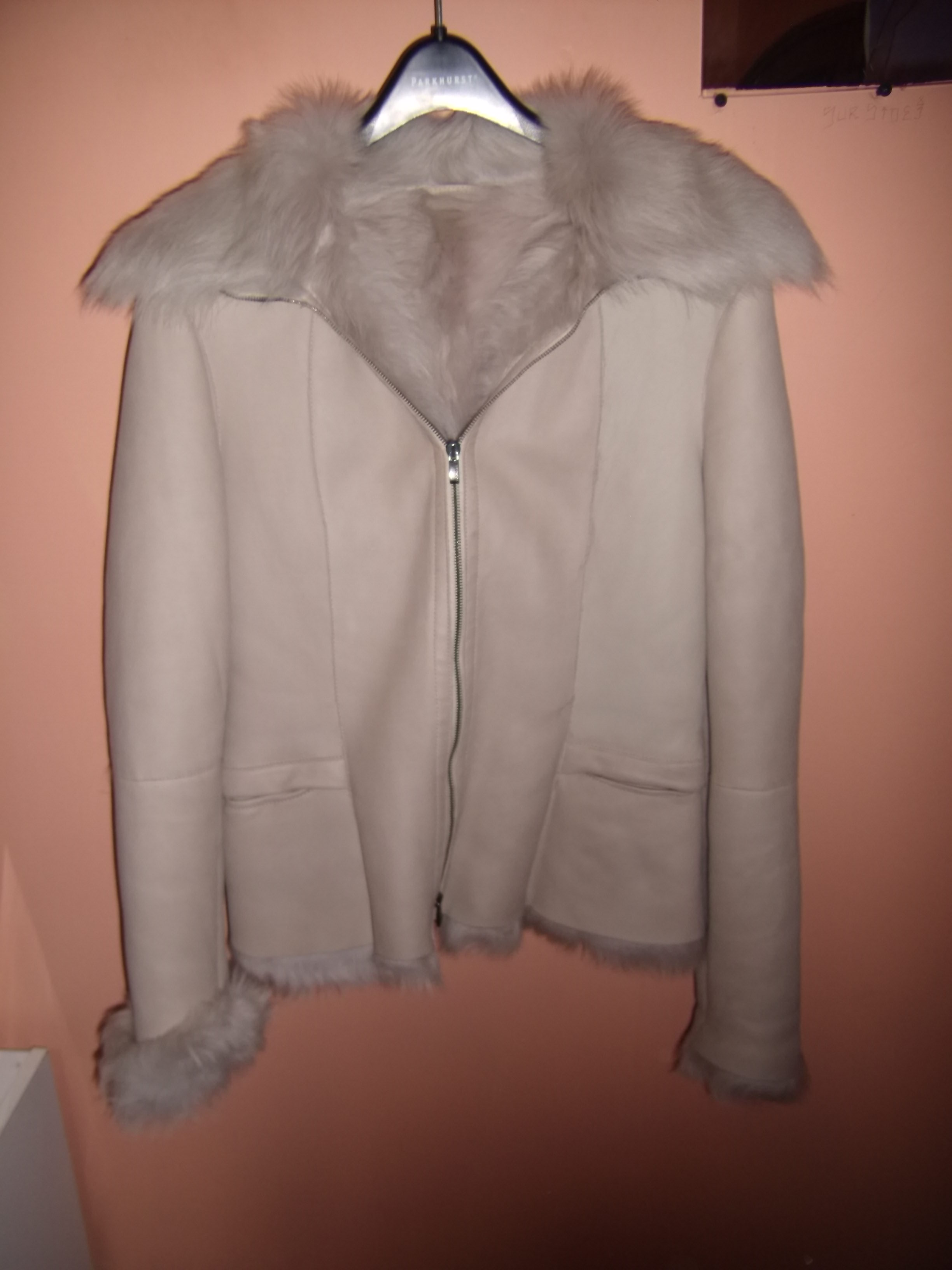 Lamb Skin Coat, Fur On The Inside, Italy, NEW - Coat