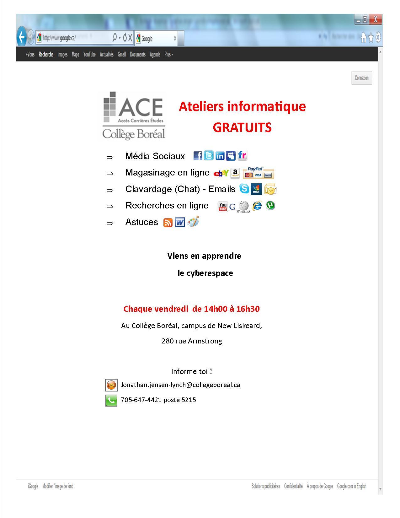 Atelier Informatique Gratuits - Atelier Informatique