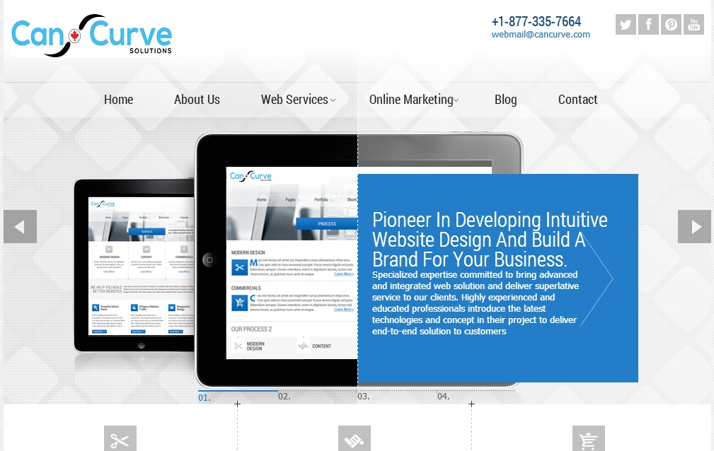 Website Design Company Toronto CanCurve - Cancurve Header