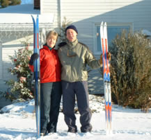 Cross Country Ski Lessons Equipment Provided - Danandjoan