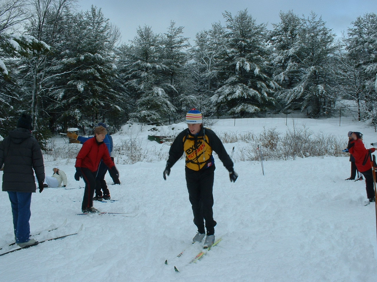 Cross Country Ski Lessons Equipment Provided - High School Student Outing At Wit S End B B 015