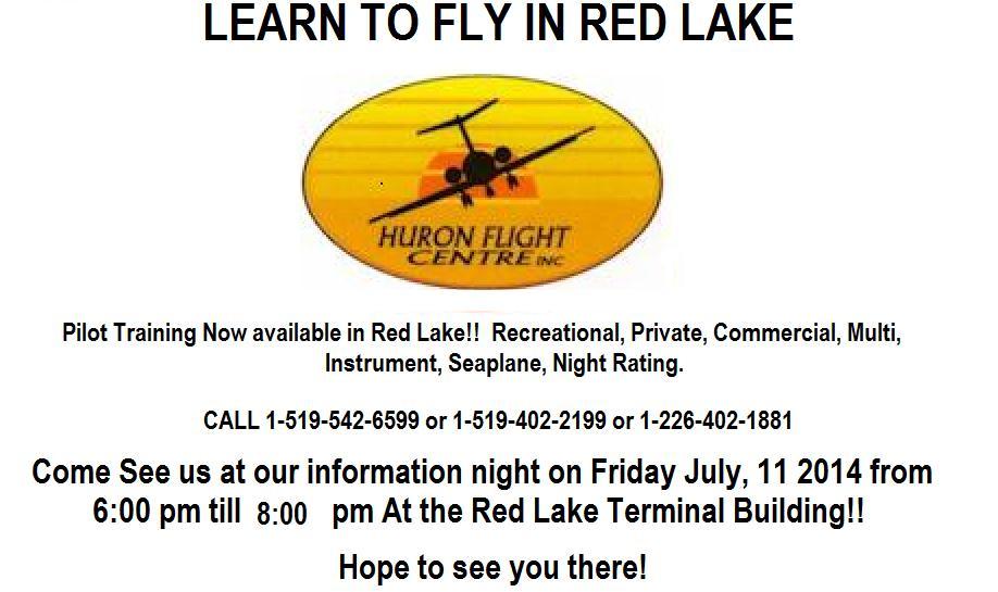 Flight Training Red Lake - Red Lake Flight Training Ad