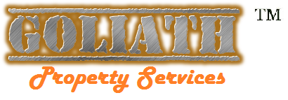 Goliath Property Services LAWN & PROPERTY MAINTENANCE - Goliath Logo One