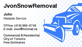 JvonSnowRemoval (Reliable Service & Cheap Rates) -