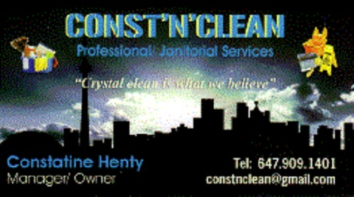 Janitorial Services - Business Card