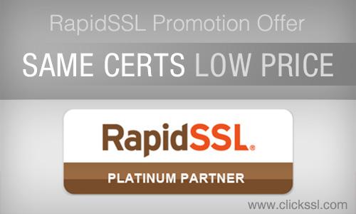 RapidSSL Certificates Coupon Code Offer By ClickSSL - Rapidssl