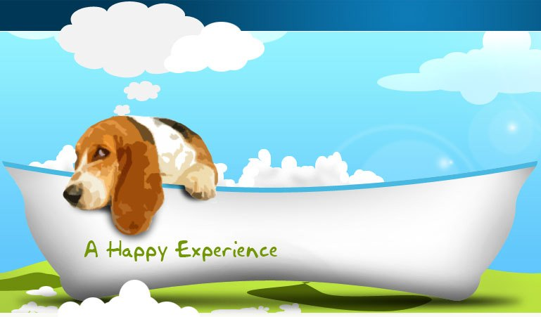 Happy Bays For Happy Dogs And Sparkling Cars - Banner Back Inner