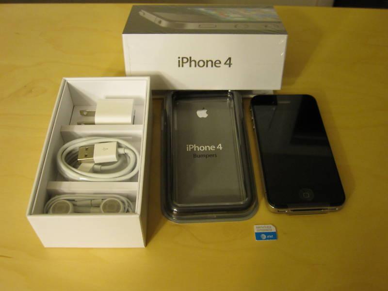 Apple IPhone 4G 32GB Black Factory Unlocked - New Iphone 4