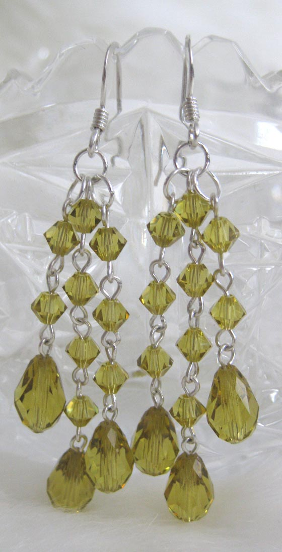 Handmade Beaded Jewelry - Earrings Swarovski Jonquil 200k