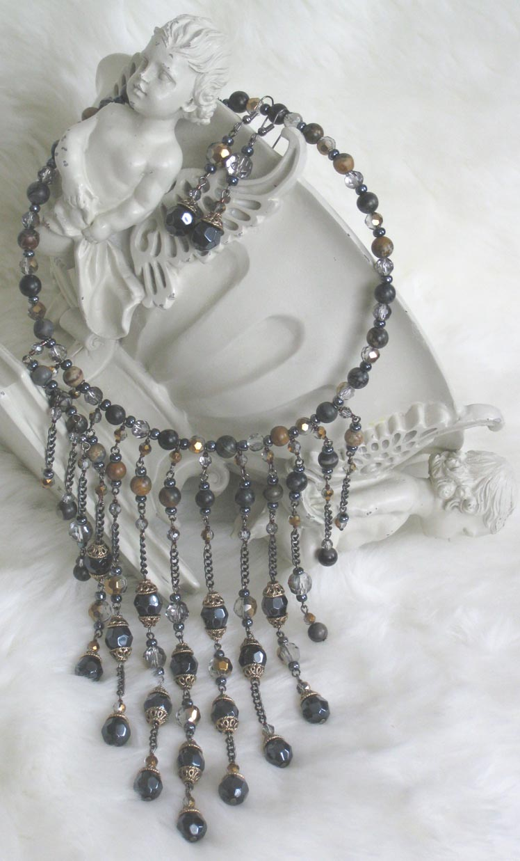 Handmade Beaded Jewelry - Necklace Elara3 200k